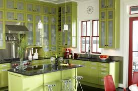 Green Country Kitchen Traditional Green Country Kitchen Design With Gorgeous Soft Light