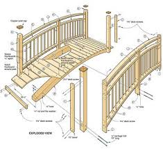 wooden bridge plans should an individual plan to learn woodworking skills try http