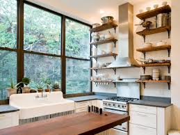 clever kitchen ideas open shelves trends with small design picture