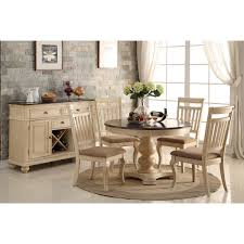 this great barrington dining set has a charming design that