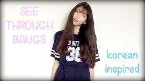 cut see through bangs fringe korean inspired youtube