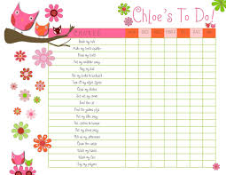 7 best images of printable detailed chore chart kids free chore