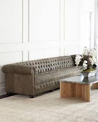 OHT Furniture At Neiman Marcus - Hickory leather sofa