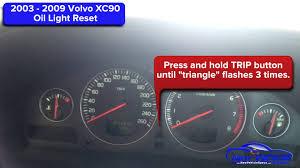 2003 2009 volvo xc90 oil light reset service light reset youtube