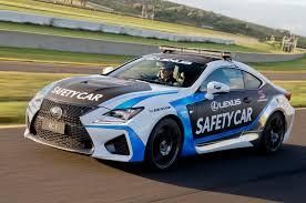 lexus rc f silver lexus rc f to serve as safety car for v8 supercars series