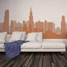 basketball decal etsy cityscape decal chicago illinois skyline wall vinyl football basketball team colors decor