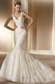 Cheap Designer Wedding Dresses Buy Cheap Mermaid V Neck Lace Ruffles Gorgeous Perfect Designer