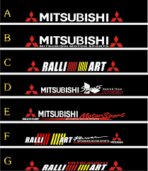 ralliart logo wholesale mitsubishi car stickers buy cheap mitsubishi car