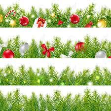 big borders set with christmas tree with gradient mesh