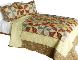 Cotton Bed Linen Sets - lucky clover 3pc cotton contained patchwork quilt set full queen