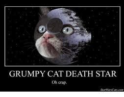 Star Wars Cat Meme - grumpy cat death star oh crap star wars catscom cats meme on me me
