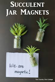 diy succulent succulent jar magnets the country chic cottage