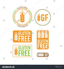 collection gluten free seals various colorful stock vector