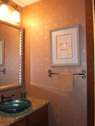 Orange Powder Room Bathroom Remodel Shower Ideas Vanities Kellie Toole
