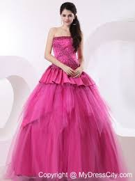 pretty pink puffy quinceanera dresses cheap price
