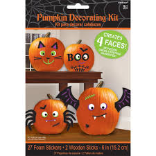 amazon com pumpkin decorating kit makes 4 jack o lantern faces