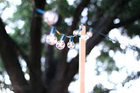 hanging garden string lights diy outdoor lights painting the