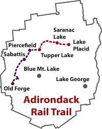 Virginia Creeper Trail Map by About The Adirondack Rail Trail