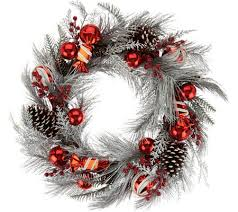 frosted 22 peppermint candies and ornament wreath page 1 qvc