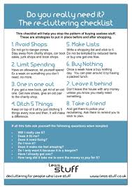free printable recluttering checklist avoid cluttering again