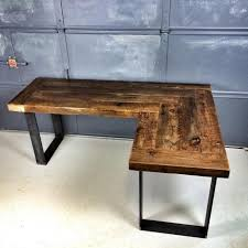 Wood Desk Ideas Best 25 Reclaimed Wood Desk Ideas On Pinterest Rustic Pertaining