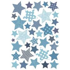 stickers étoile chambre bébé stickers chambre enfant étoiles bleues motif enfant fille pour
