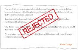 rejection some colleges do it better than others wsj