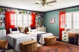 vintage eclectic garden inspired shared girls u0027 bedroom domicile 37