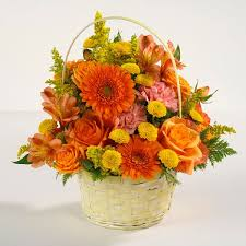 thanksgiving gift deluxe in photo no roses smaller basket for
