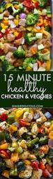 15 minute healthy roasted chicken and veggies video gimme