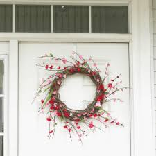 spring wreaths for front door diy front door wreath in 3 quick steps and 10 minutes u2013 at home