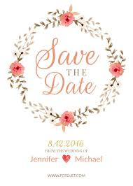 Save The Date Invitation Design Save The Date Invitations Online Fotojet