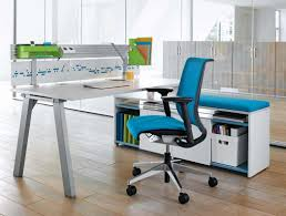 White Desk Accessories by Best Blue Ergonomic Office Chairs With White Desk In Wood Flooring