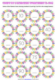 counting numbers by 5 and 10 printable worksheets and exercises