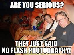 Meme Disney - disney memes no flash photography walt disney world