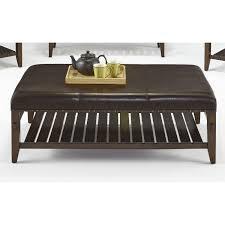 furniture stunnign jupiter key leather ottoman coffee table lower
