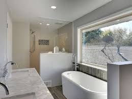 Marble Master Bathroom by Contemporary Master Bathroom With Hardwood Floors U0026 Freestanding