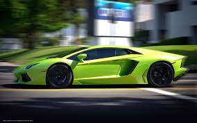 Lamborghini Aventador Side View - download wallpaper lamborghini aventador green side view free