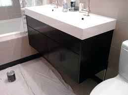 Ikea Solid Wood Cabinets Vanities Ikea Double Vanity White Ikea Wall Mounted Bathroom