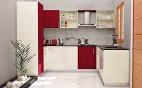 Kitchen Counter Decorating Ideas Modular Kitchen For Small U Shape Laminate High Gloss Fiesta Rose