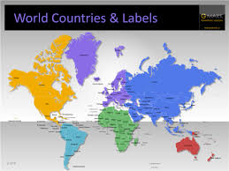 clear world map with country names editable maps and heat maps for powerpoint youpresent