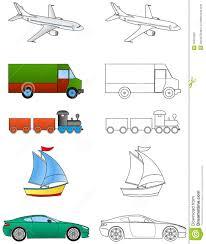 cartoon vehicles coloring 1 2 stock photos image 36321803