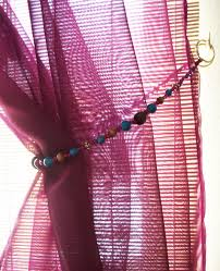Decor Beaded Window Curtains Beaded by Diy Beaded Tiebacks U2013 The Decor Guru