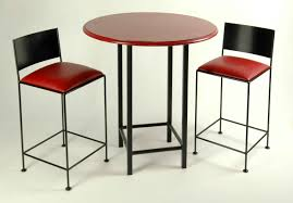 Small Bar Table Furniture Piece Bar Table Sets In Red With Rectangular Made Of