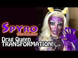 Spyro Dragon Halloween Costume Spyro Dragon Drag Queen Transformation