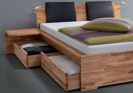 awesome natural wood platform bed also likable storage beds nyc