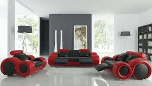 red leather sofa living room ideas living room ultra modern black red laminated comfortable leather