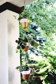 hanging planters gold dipped hanging planters u2013 a beautiful mess