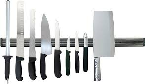 deluxe kitchen knife set by dolomiten inox includes magnetic rack