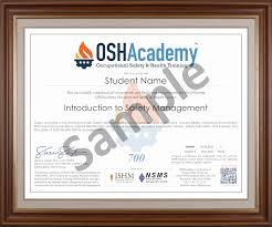 Occupational Health And Safety Resume Examples by Oshacademy 132 Hour Osh Professional Program
